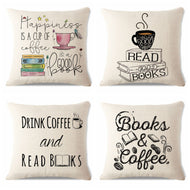 Decorative Reading Pillow Cover 45Cmx45Cm