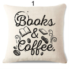 Books and Coffee | Handmade Cushion Cover Designs | Present Pal