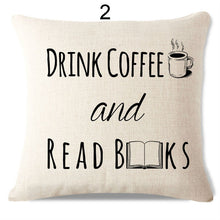 Drink Coffee and Read | Handmade Cushion Cover Designs | Present Pal