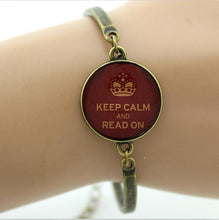'Keep Calm and Read On' Bracelet