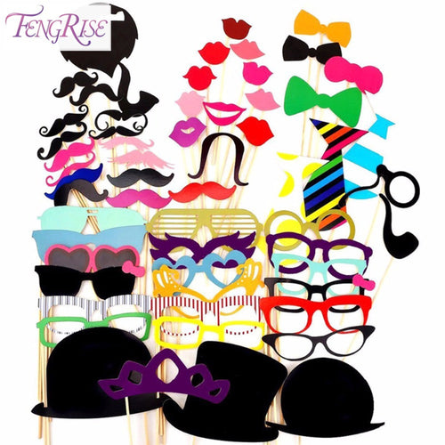 Photo Booth Props - Set of 58