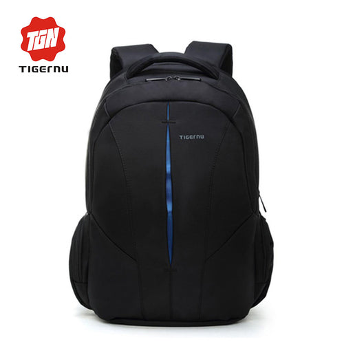 TigerNu Black and Blue Waterproof Laptop Backpack | Present Pal