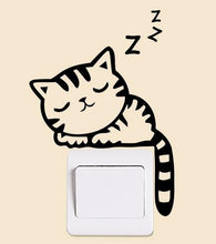 Sleeping Tabby Cat 2 Light Switch Sticker | Cat Theme | Present Pal