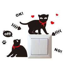 2 Cats Light Switch Sticker | Cat Theme | Present Pal