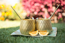 Two Gold Pineapple Cups Outside | Great Present Ideas | Present Pal