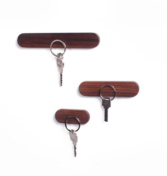Walnut Magnetic Key Hanger | Lost Keys | Present Pal