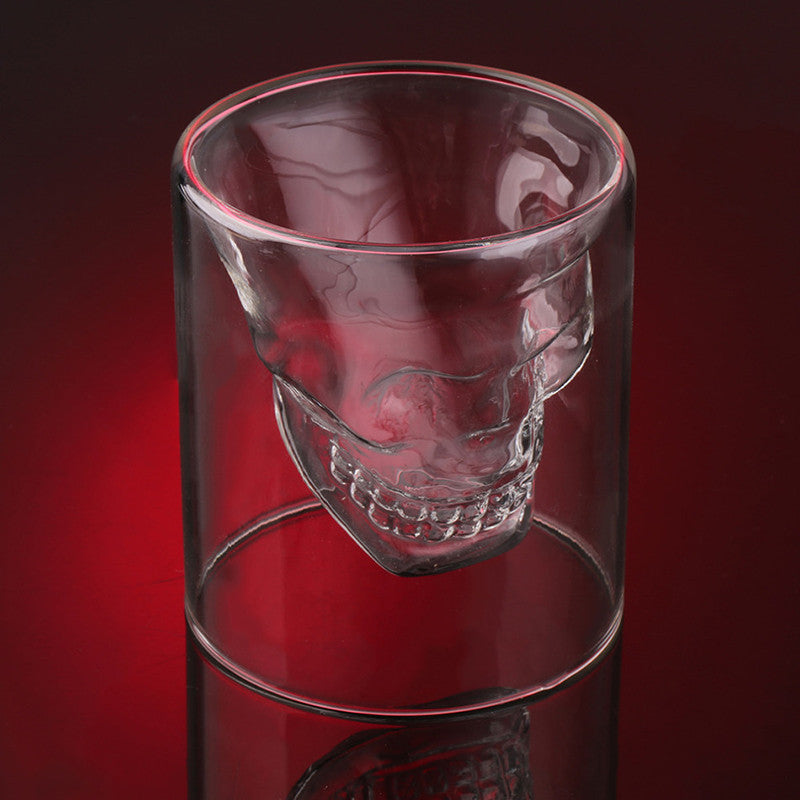 Skull Shot Glass Red Background | Present Pal