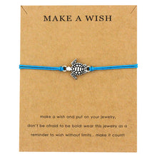 "Light Blue ""Make a Wish"" Turtle Bracelet 