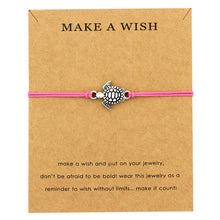 "Bright Pink ""Make a Wish"" Turtle Bracelet 