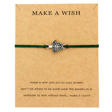 "Turtle Green ""Make a Wish"" Turtle Bracelet 
