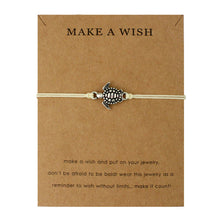 "Cream ""Make a Wish"" Turtle Bracelet 