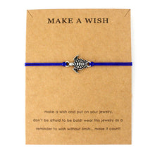 "Navy Blue ""Make a Wish"" Turtle Bracelet 