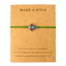"Green ""Make a Wish"" Turtle Bracelet 