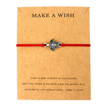 "Red ""Make a Wish"" Turtle Bracelet 