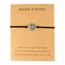 "Black ""Make a Wish"" Turtle Bracelet 