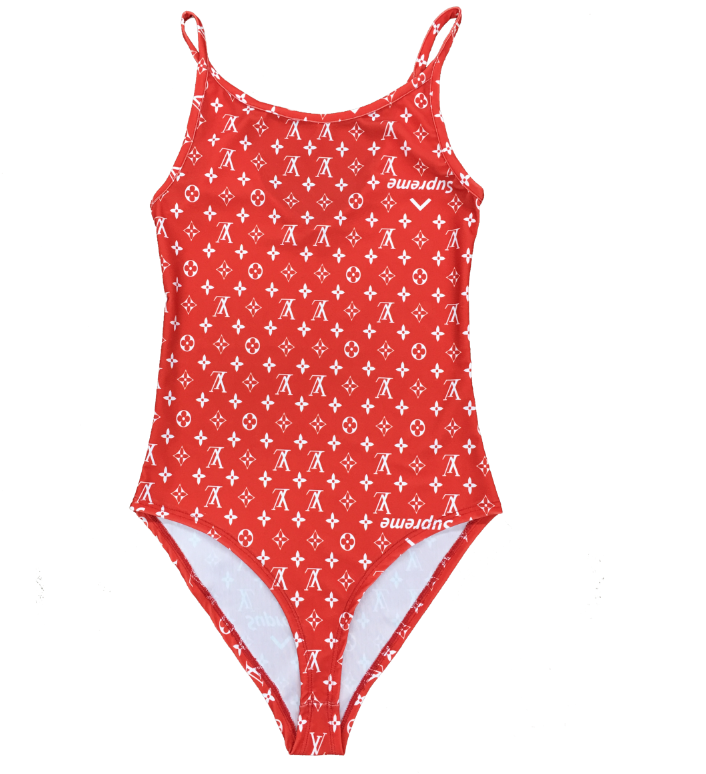 "Designer Rag ""LV/Supreme"" Inspired Swimsuit"