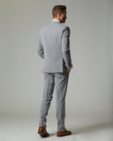 Light Grey Tempo Stretch Slim Fit 1-Pant Suit