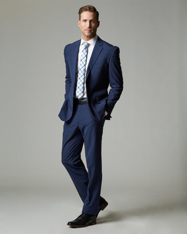Blue Tour Stretch Modern Fit 1-Pant Suit