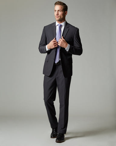 Charcoal Tour Stretch Modern Fit 1-Pant Suit
