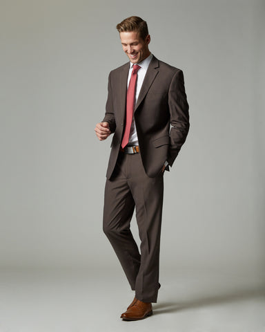 Taupe Tour Stretch Modern Fit 1-Pant Suit