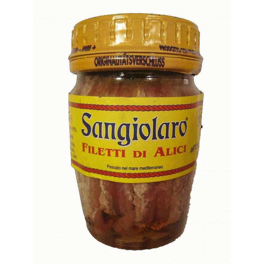 Anchovies by Sangiolaro 80g (jar) - www.Limoncello.co.uk