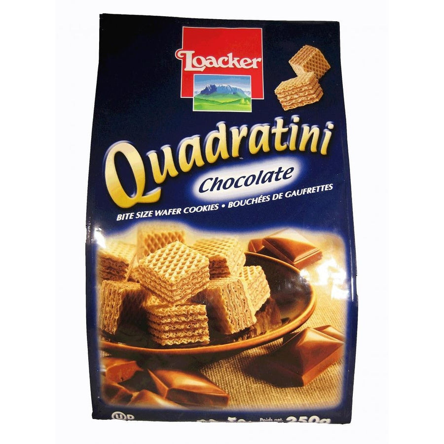 Quadratini - Chocolate by Loacker 250g - www.Limoncello.co.uk