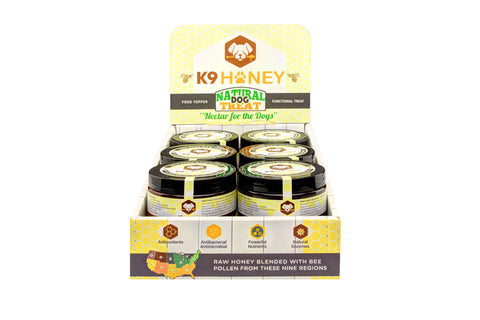 Countertop Display of K9 Honey - K9 Honey