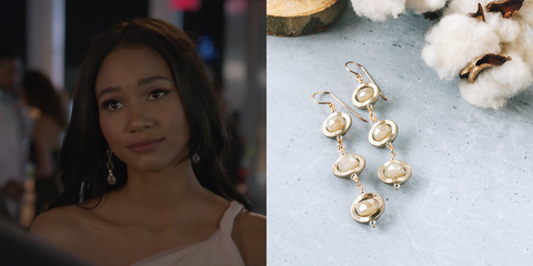 Soft Gold Crystal Earrings As Seen On CW All American