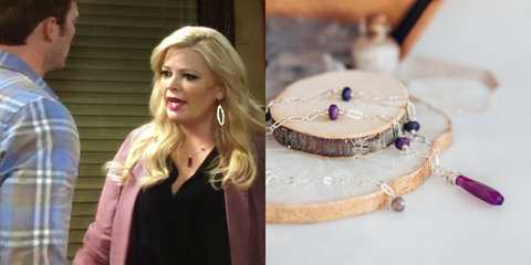 Purple Chalcedony Gemstone Necklace As Seen On Freeform's Baby Daddy