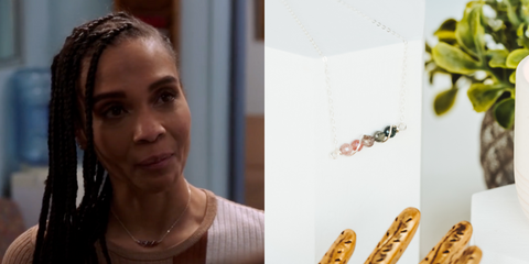 Natural Spinel Gemstone Bar Necklace As Seen On NBC Law & Order: SVU