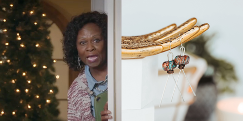 Hieroglyph Earrings As Seen On Lifetime Holiday Movie The Christmas Edition