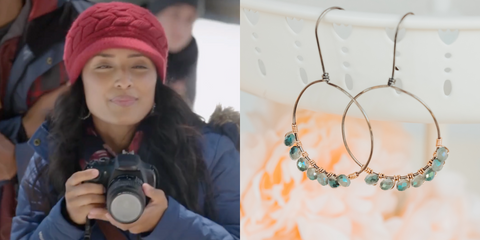Crystal Wrapped Hoop Earrings As Seen On Lifetime Holiday Movie The Christmas Edition
