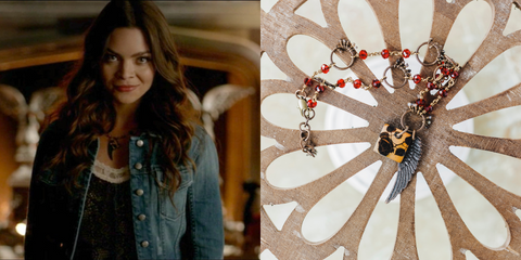 Wings and Roses Necklace As Seen On CW's The Vampire Diaries