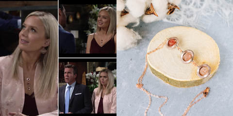 Strawberry Quartz 14k Rose Gold Filled Necklace As Seen On CBS Young & the Restless