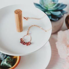 Raw Tourmaline Rose Gold Filled Necklace