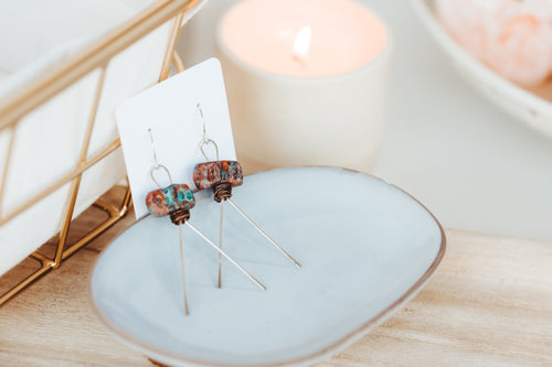 Hieroglyph Sterling Silver Copper Earrings | As Seen On TV | Lifetime Holiday Movies | Christmas Hotel | The Christmas Edition