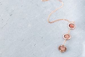 Ombre Strawberry Quartz Rose Gold Filled Necklace As Seen On The Young & The Restless