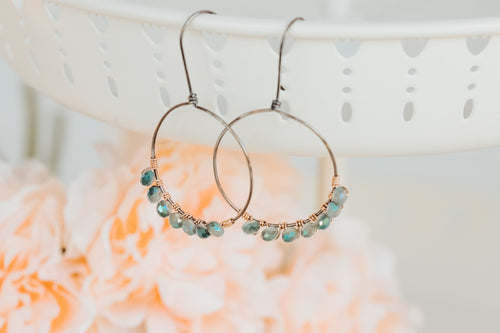 Crystal Wire Wrapped Hoop Earrings | As Seen On TV | Lifetime Holiday Movies | The Christmas Edition