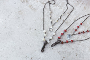 Moon Phases Gemstone Crystal Necklace