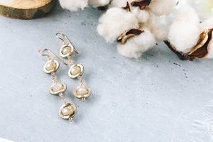 Soft Gold Crystal 14k Gold Filled Earrings As Seen On CW All American