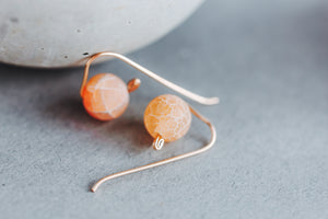 Fire Agate 14k Gold Filled Earrings