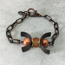 Load image into Gallery viewer, Gemstone Copper Triple Moon Bracelet