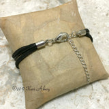 Unisex Gemstone Leather Bracelet