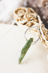 Raw Kyanite Sterling Silver Necklace