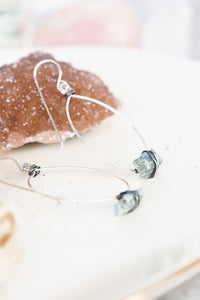 Raw Kyanite Sterling Silver Statement Earrings