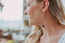 Load image into Gallery viewer, Rough Tourmaline Gemstone Rose Gold Filled Earrings