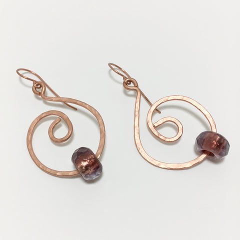 Hammered Swirl Earrings