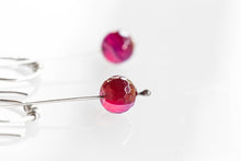 Load image into Gallery viewer, As Seen On The Good Fight Gemstone Pendulum Earrings