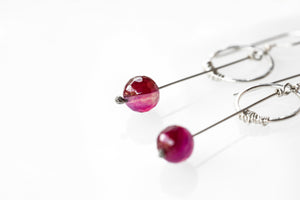As Seen On The Good Fight Gemstone Pendulum Earrings