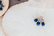 Load image into Gallery viewer, Lapis Lazuli Gemstone Drops Sterling Silver Necklace As Seen On Seal Team